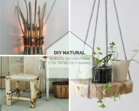 diy decoracion troncos y ramas